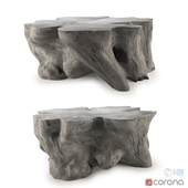 Restoration Hardware Malay Cast concrete table