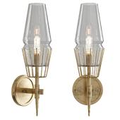 Luxurious American Retro Copper Wall Lamp