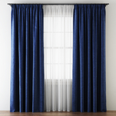 Hovering Velvet Tape Curtains with Tulle