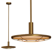 Restoration Hardware GRAHAM PENDANT 16 Brass