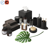 Modern Bathroom Accessories Black