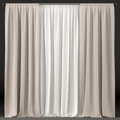 Curtains in white and brown tulle.