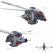 """Space drone reconnaissance """"for the competition"""""""