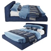 Cloud Platform Slipcovered bed | RH bed with bedding
