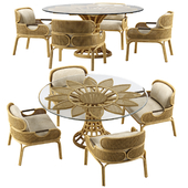 Mcguire Sunflower dining set