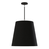Restoration Hardware CICERO BARREL PENDANT 25 Black