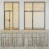 Glass partition. A door. eleven