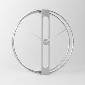 KARE Design Wall Clock Clip Silver Ø107cm