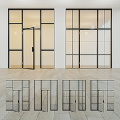 Glass partition. A door. 12