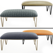 Bertram Modern Metal Upholstered Bench