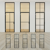 Glass partition. A door. 13