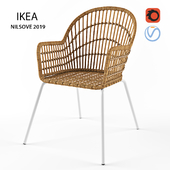 Dining rattan chair from Ikea NILSOVE