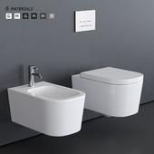 GALASSIA MEG11 Wall-Hung WC art. 5411 art. 5412