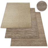 Textured Striped Wool Rug RH Collection