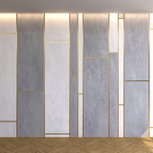 Marble panel with parquet 11