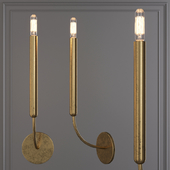 Restoration Hardware QUENOUILLES SINGLE SCONCE Brass