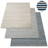 Double Stripe Flatweave Rug RH Collection
