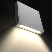 LED recessed / wall mounted square wall light for illuminating the steps of the stairs Integrator IT-001 Uno
