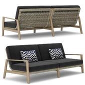 RH Outdoor Mesa teak sofa
