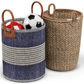 Huntington, seagrass baskets