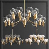 Spain Design Golden Chandelier with Glass Shade