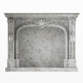 classical fireplace