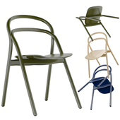 Hem Udon Chair Beech, Blue and Green Color