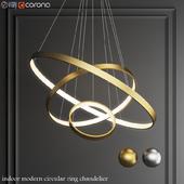 indoor modern circular ring chandelier