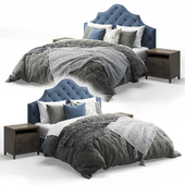 Qween Bed with Arebelle Tufted Headboard