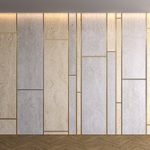 Marble panel with parquet 13