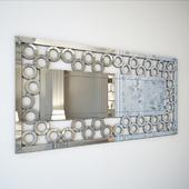 Paloma Silver Modern Rectangular Mirror