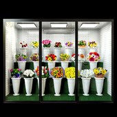 Refrigerated display for flowers