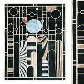 Stain Glass Rug by Roche Bobois