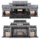 FIREPLACE WITH FIREWOODS _ Камин с дровами