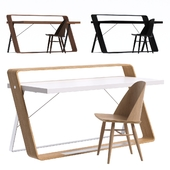 Watts Desk and Synnes Dining Chair