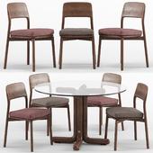 Emma chair and Tondo round table - Porada