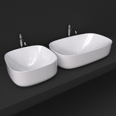 Scarabeo moon washbasin 42x42 and 70x42_5501 and 5502