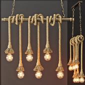 Подвесной светильник в стиле Лофт (6 лампы Эдисона)