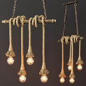 Подвесной светильник в стиле Лофт (4 лампы Эдисона)