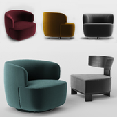 Molteni Elain and Clipper armchairs