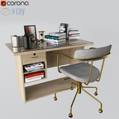 West Elm Deckup Giona Office Desk And Chair