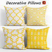 Decorative pillows set 302 Lemon Yellow Throw