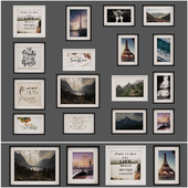 Photo frame set 07 - collection of 16 frames
