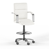 Silver Orchid Kelly Drafting Stool