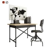 Ikea workplace black