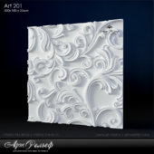 Гипсовая 3d панель Art-201 от АртРельеф