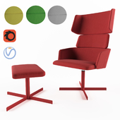 Armchair Concord+ footstool