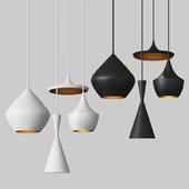 Beat Light chandelier Set Tom Dixon Loft Concept Black & White