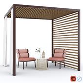 Садовая Беседка Kettal Pavilion Gazebo & Roll Chair