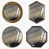 Зеркала (набор 4 штуки)